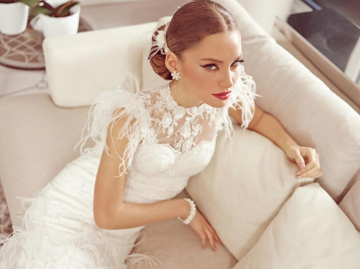 BERTA bridal gown from a catalog of a leading hair designer ...