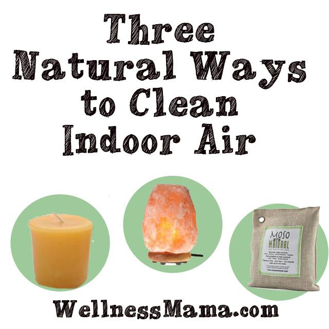 There are natural ways to clean indoor air with beeswax candles, himalayan salt lamps and activated charcoal bags.