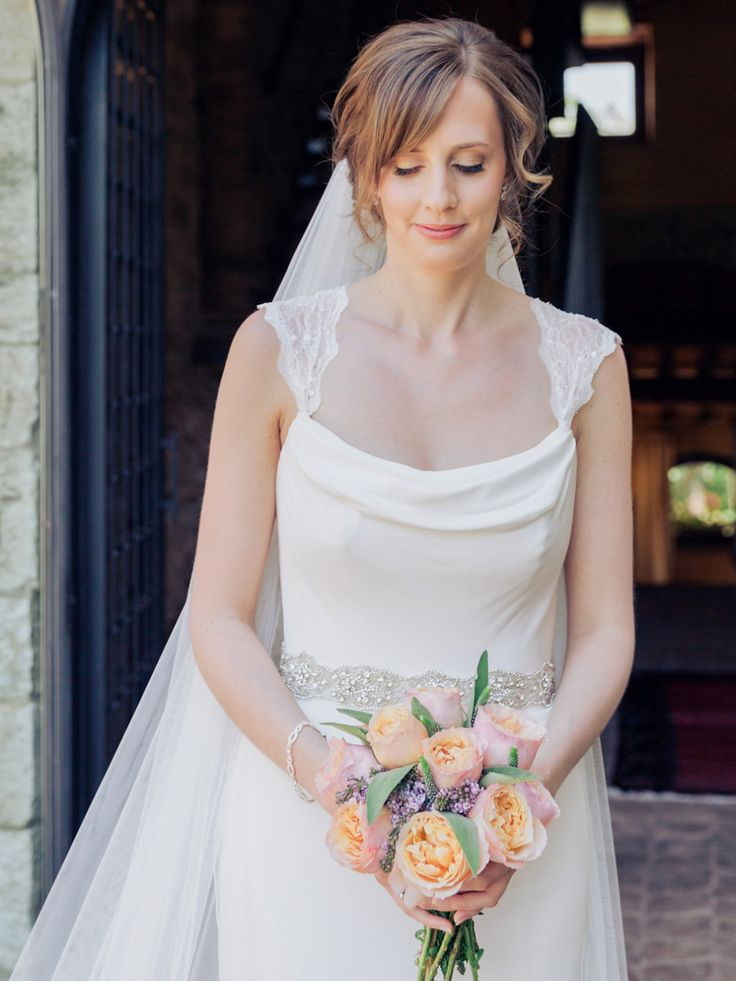 Bride wears a Stephanie Allin wedding gown  | Photography by http://www.charliphotography.co.uk/