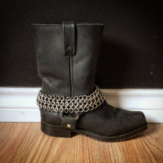 Hellbent Hunter Chainmaille Bootstraps