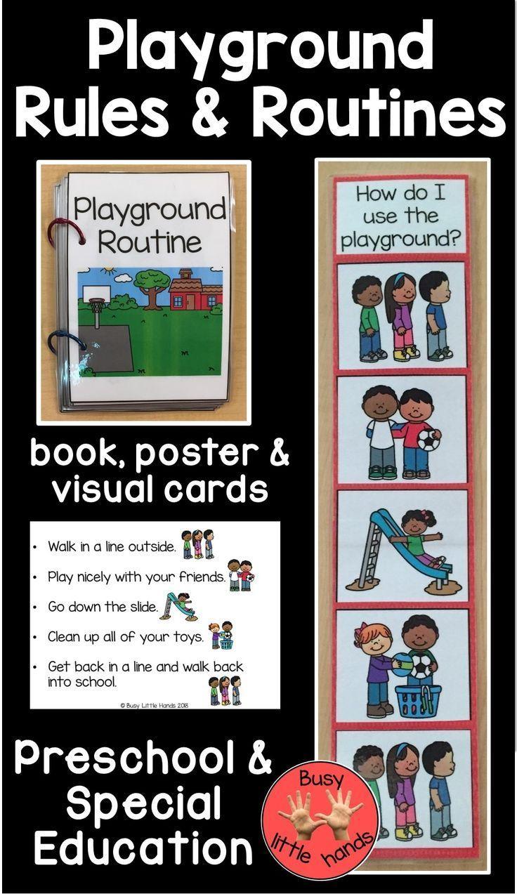 Playground Routine For Preschool Special Education Playground Rules Preschool Special Education Preschool Rules [ 1273 x 736 Pixel ]