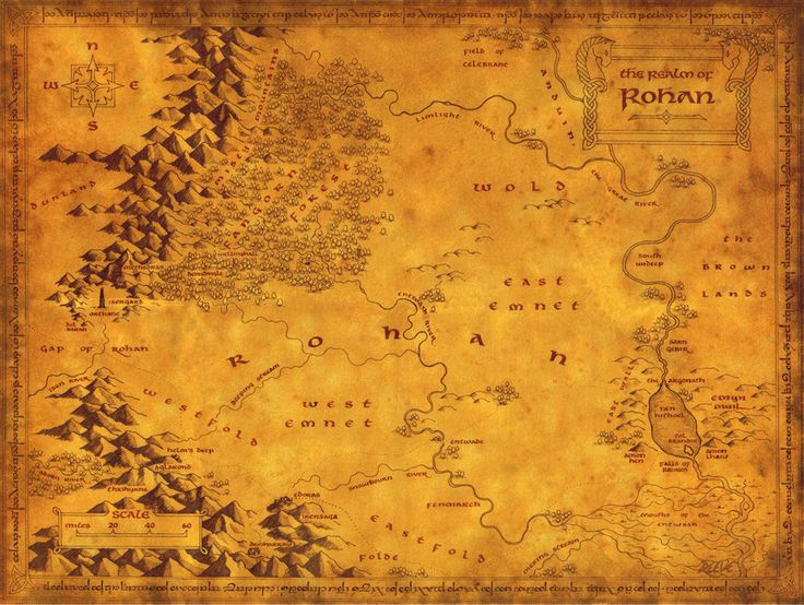 Detailed map of Rohan #LOtR
