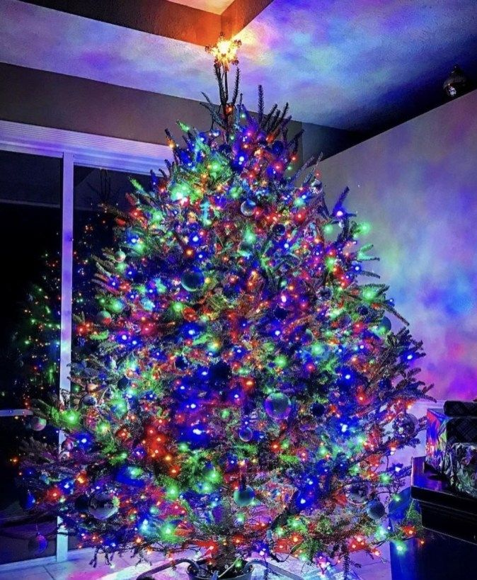 Cute And Colorful Christmas Tree Decoration Ideas To Freshen Up Your Home 19 Colorful Christmas Tree Christmas Lights Led Christmas Tree