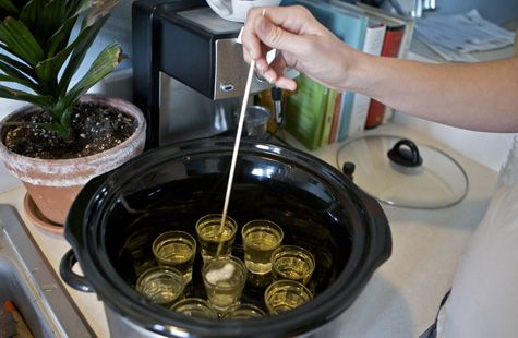 Crock Pot Soy Candles.                                                                       Try doing these in small mason or jam jars.