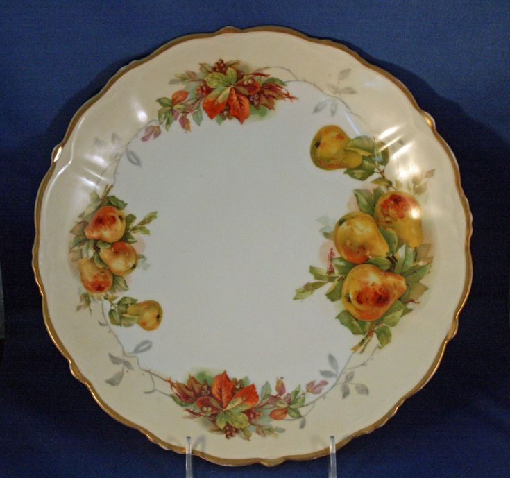 Antique PS Germany Hand Painted Charger / Platter / Large Plate produced between 1898 and 1918 by KattsCurioCabinet on Etsy