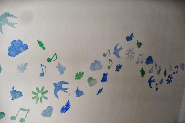 Enoah's world: sjablonen maken op je muur. Super leuk voor bijv. een kinderkamer.