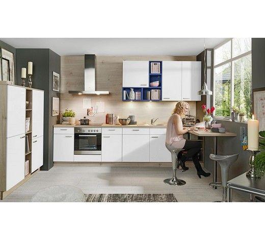 Diese eckküche in weiß hochglanz bezaubert mit ihrer optik die fronten aus lacklaminat sind ein moderner hingucker korpus und arbeitsplatten in
