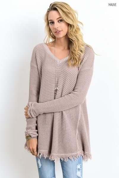 V-Neck Long Sleeve Tunic