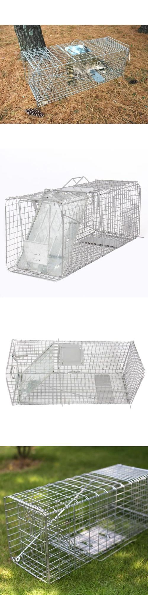 Trapping Supplies 71108: Humane Animal Trap 26X10x11 Steel Cage Live Rodent Control Skunk Rabbit Cat Ly -> BUY IT NOW ONLY: $31.47 on eBay!