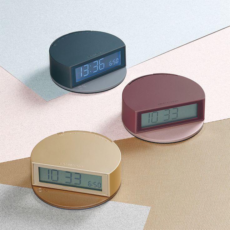 LCD-Wecker mit Licht und Snooze FINE von Lexon!