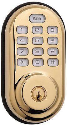 Yale Z-WAVE YRD210-ZW-605 Real Living Keyless Push Button Deadbolt Lock OPEN BOX