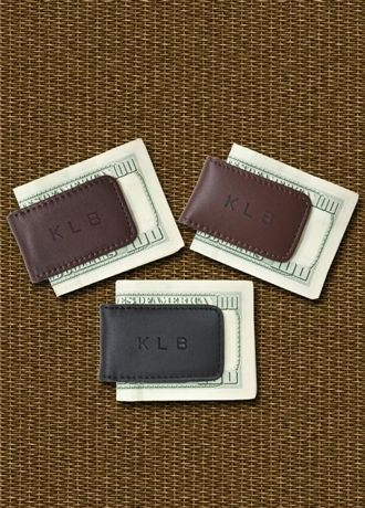 Personalized Leather Magnetic Money Clip - David's Bridal