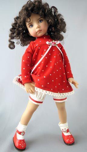 Платьице для куклы, выкройка, одежда для куклы