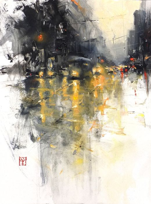 """Composition #10 by Hsin-Yao Tseng oil on panel 12 x 9"""" 2011"""