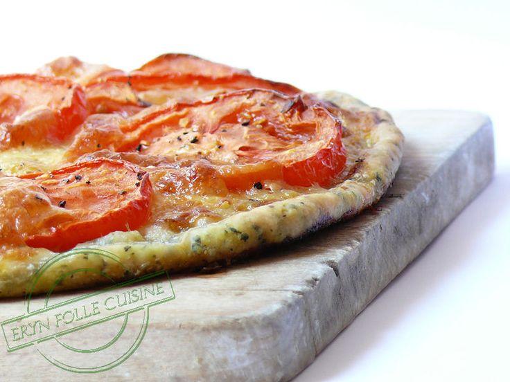 Tarte Fine Basilic, Tomates & Mozzarella - Eryn et sa folle cuisine