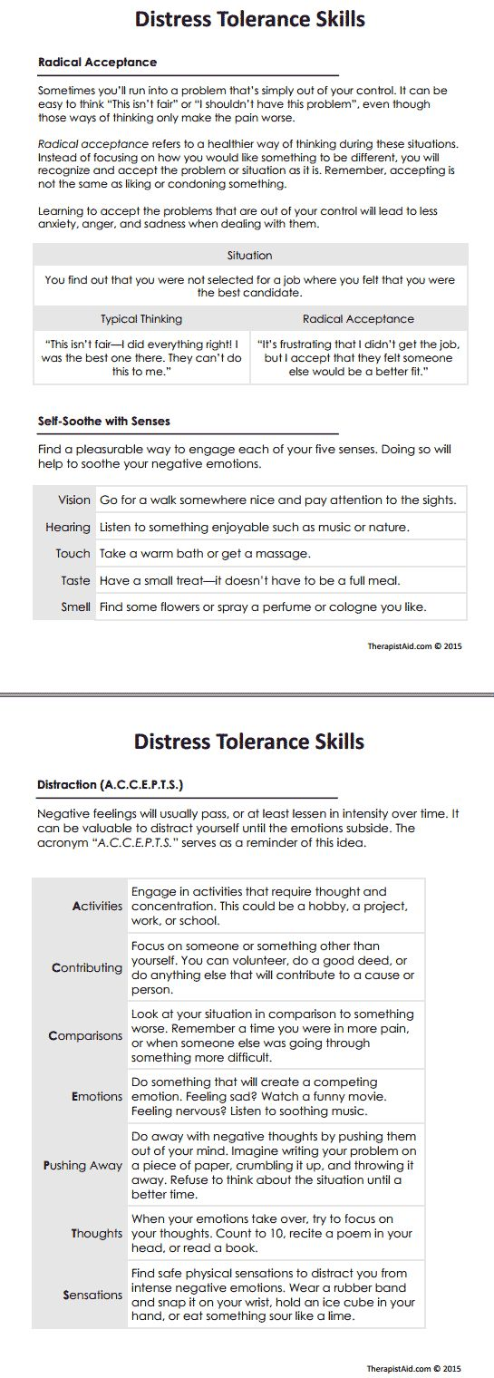 DBT Distress Tolerance Skills Preview