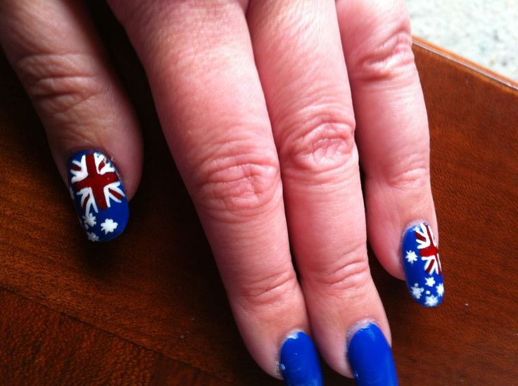 186 best australia day images on pinterest nail arts nail art australia day nail art by kym prinsesfo Images