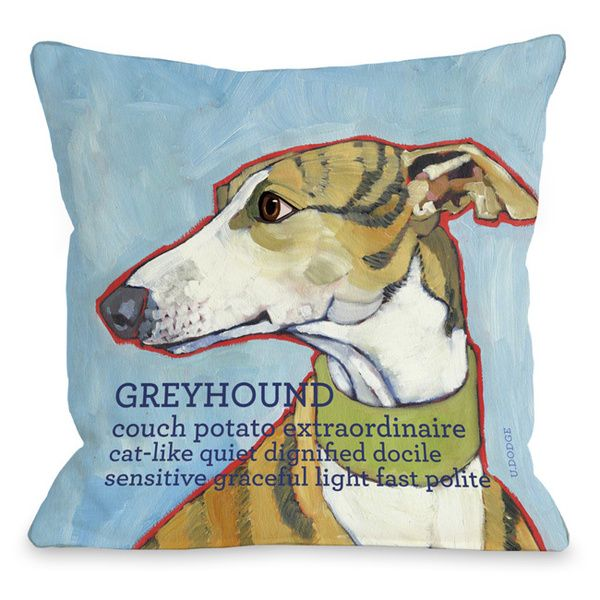 Throw Pillow Deals : Greyhound Throw Pillow Mobiles, Great deals and Shopping