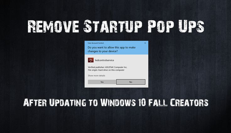 If you have recently updated to the Windows 10 Fall Creators update and are now seeing constant startup program notifications, the ones that require a Yes or No answer. This guide will show you how to disable them and stop them showing every time your system boots.  ✅ #windows #fallcreatorsupdate #ASUS +Downloadsource.net
