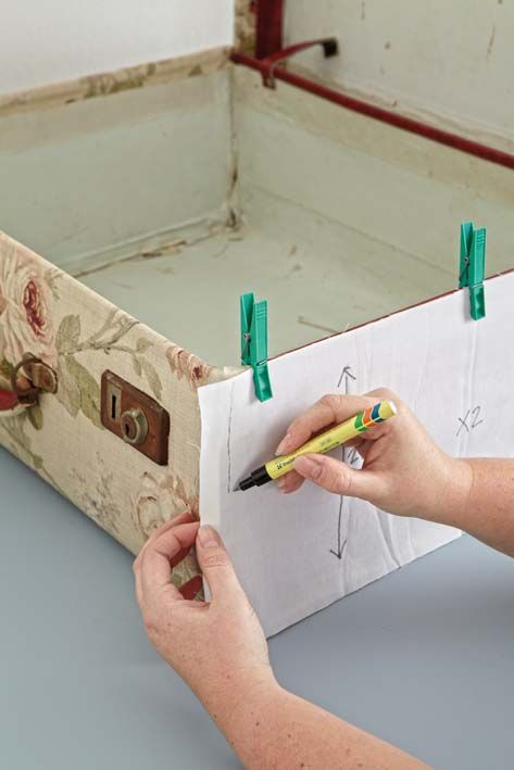 Re-cover a suitcase - excellent instructions!