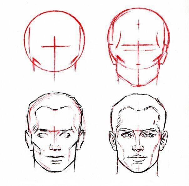 How to draw a head