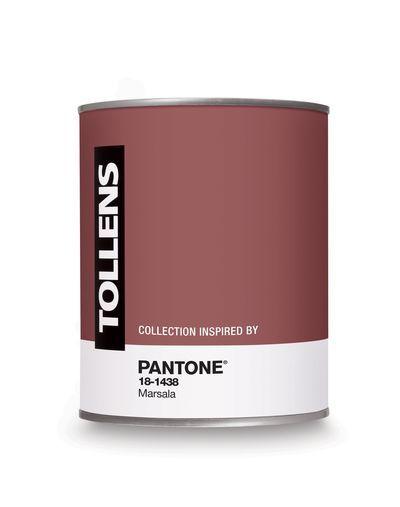 Pot de peinture Tollens - Couleur Marsala, couleur de l'année 2015