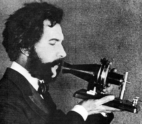 """1st telephone call made (Alexander Graham Bell to Thomas Watson) March 10, 1876   The first words spoken over the phone were probably something like """"Mr Watson, Come Over Here""""."""