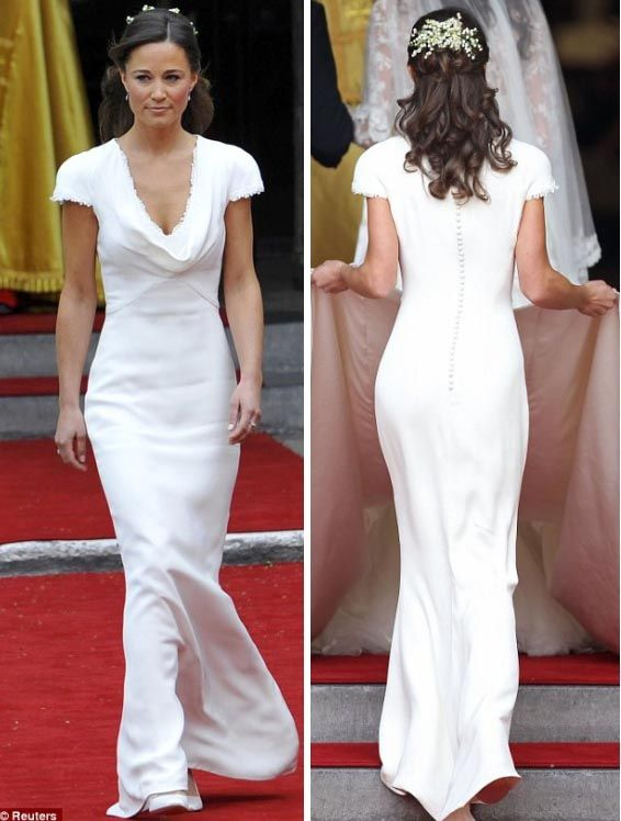 P-Middy's bridesmaid dress: I'd love a simple, sleek silhouette like this as my wedding dress