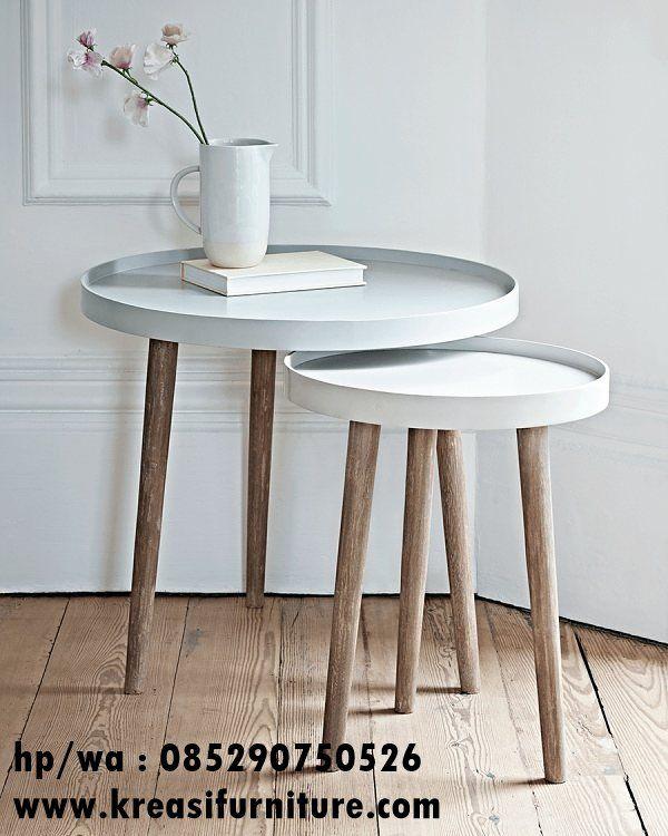 Meja Cafe Scandinavian 3 Kaki Kreasi Furniture Jepara Interior Desain Ruang Tamu Desain