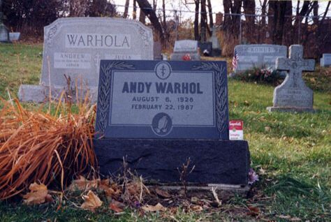 Andy Warhol's grave at St. John the Baptist Byzantine Catholic Cemetery  Read more at warhol.org: http://www.warhol.org/collection/aboutandy/biography/lastsupper/Warhol-s-Grave/#ixzz3NxnXTlPZ