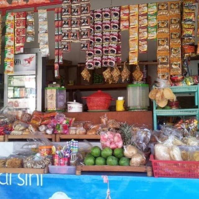 """Typical Indonesian grocery shop called """"Warung""""."""