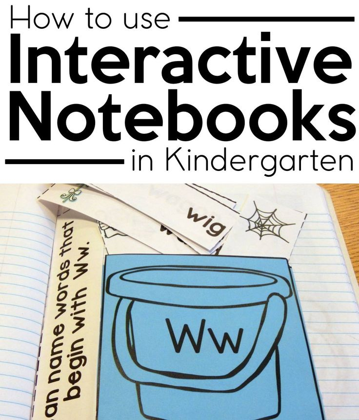 This is a great article on how to use Interactive Notebooks in Kindergarten!