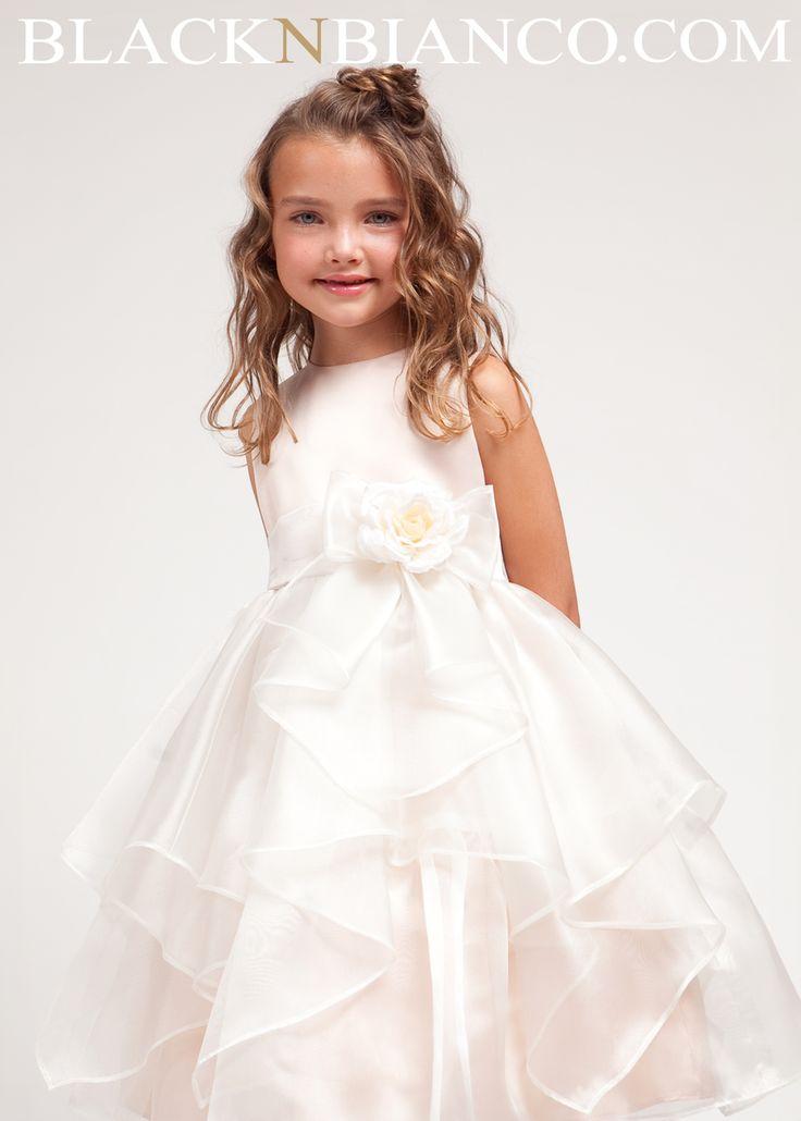 Black N Bianco - Ivory Flower Girl Dress with Ruffled Organza , $45.99 (http://www.blacknbianco.com/ivory-flower-girl-dress-with-ruffled-organza/)