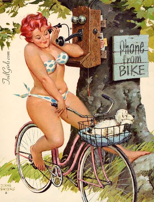 "Ok, the person who pinned this before me said ""Cute chubby girl on bike... love this one"". Persons before me, I would just like to say, that is not a chubby girl. That is what we call a BOMBSHELL. Thank you. Come again."