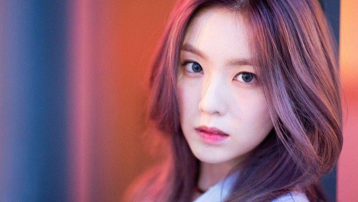 Irene Red Velvet Purple Hair Beautiful Korean Girl Wallpaper