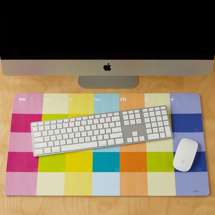 Lulalu Desk Calendar Pad Stripe Monthly Classic