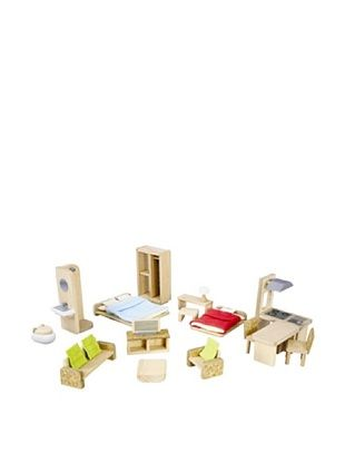 43% OFF PlanToys The Green Dollhouse Furniture Set