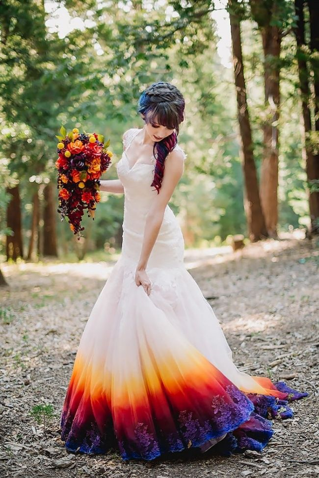This new wedding dress trend will make your big day even brighter