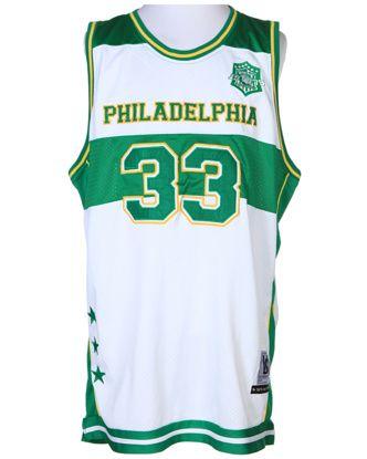 White & Green Basketball Jersey - XL