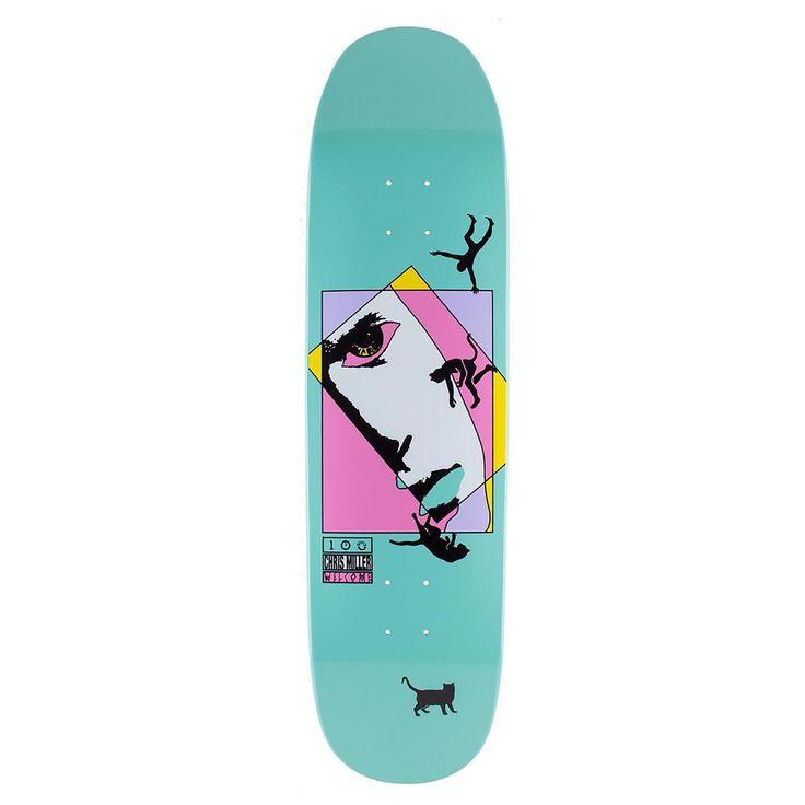 """Welcome Skateboards Miller Faces On Catblood (Teal) Deck in 8.5"""""""