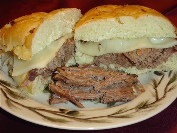 Portillo s Italian Beef Sandwiches from Food.com: Portillo's restaurant, in Chicago, are famous for their beef sandwiches. This would be one of those dishes you could make for your family and freeze leftovers for another meal.
