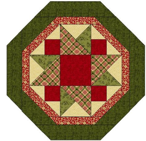 how to draft a simple hexagon taple topper quilt in EQ