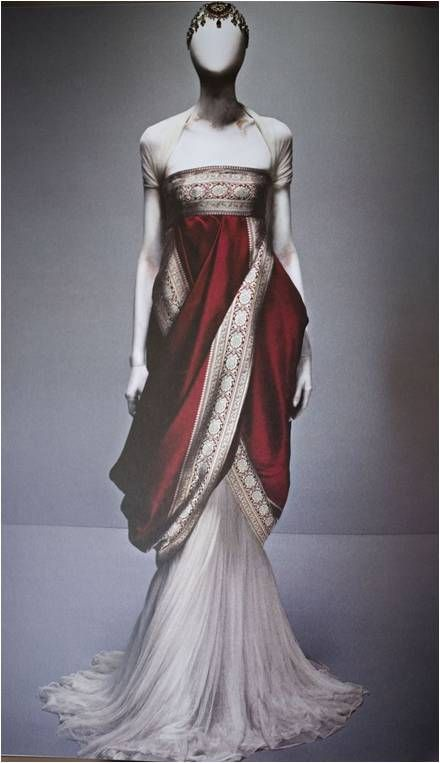 Alexander McQueen's Sari Dress from Fall 2008 collection
