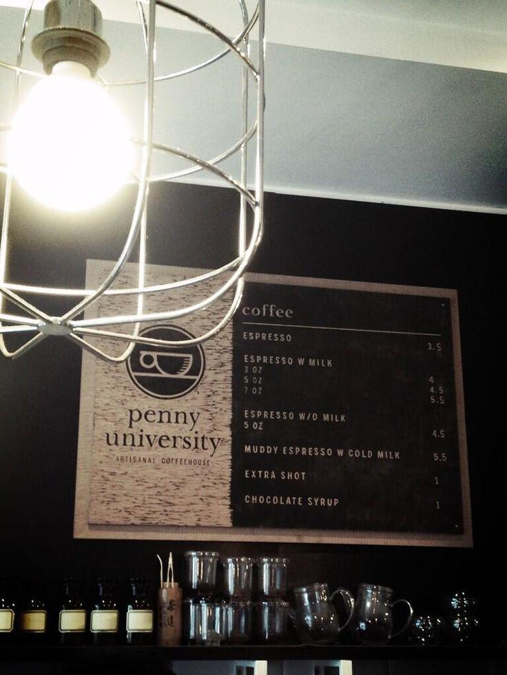 Coffee Menu @Penny University, Singapore