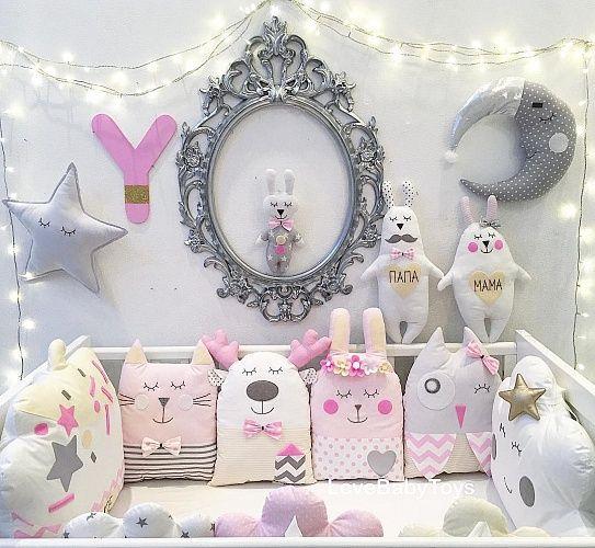 """Бортики """"Маленькая принцесса"""" комплект на всю кроватку"""