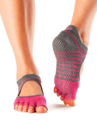 Vijf tenen sokken ToeSox bellarina halve tenen in Tag maat M en S