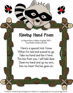 Free Kissing Hand poem printable.  Love this Ppoem.  Have used this activity every year I've taught.  Such a sweet story.