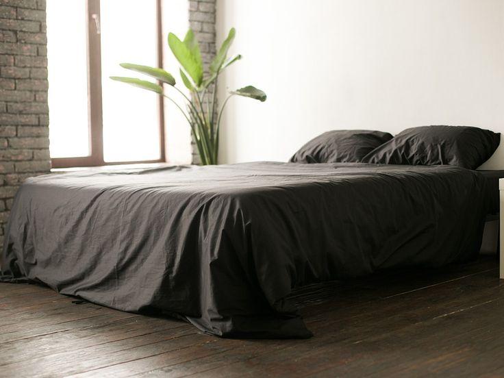 Черное постельное белье New Black (165x220)