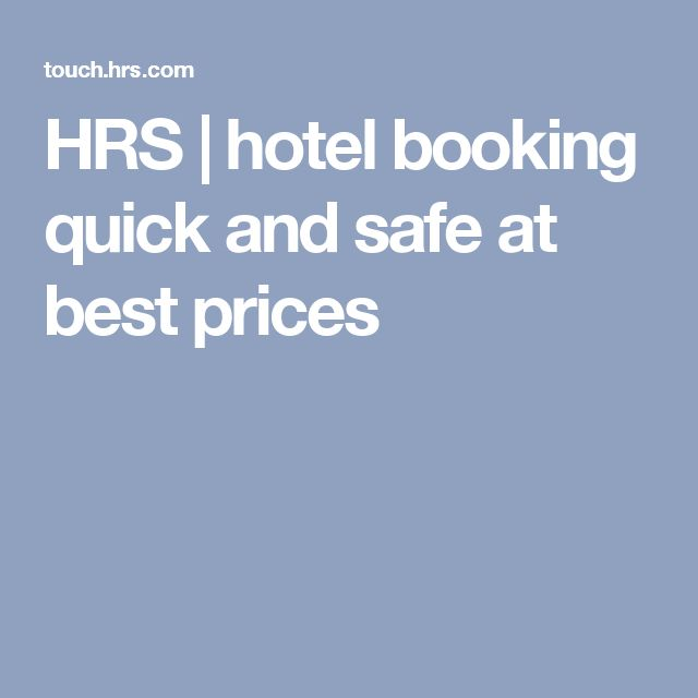 HRS | hotel booking quick and safe at best prices
