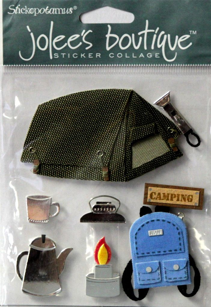 Jolee's Boutique Camping Dimensional Scrapbook Stickers are available at Scrapbookfare.